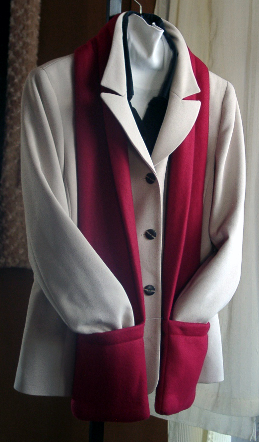Red Flat Pocket Fleece - Click for details